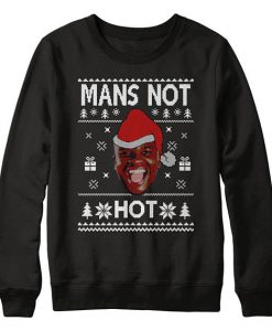 Mans Not Hot Christmas Sweatshirt