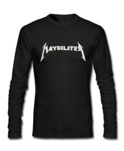 Maybelate Black Sweatshirt