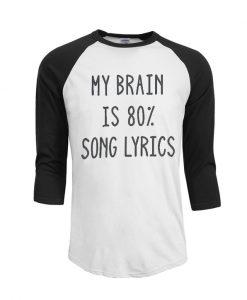 My Brain is 80% Song Lyrics Baseball
