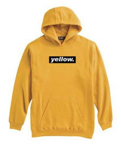 Yellow striped letter hoodie