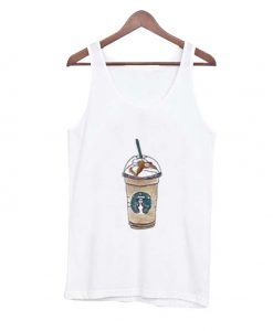 cartoon starbucks drink tank top