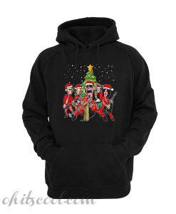 Aerosmith band merry Christmas hoodie