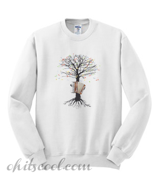Accordion Musical Tree Sweatshirt