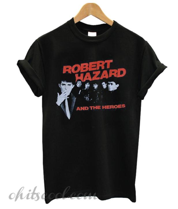 1980's ROBERT HAZZARD & The Heroes vintage concert tour rare original new-wave rock band Runway Trend t-shirt