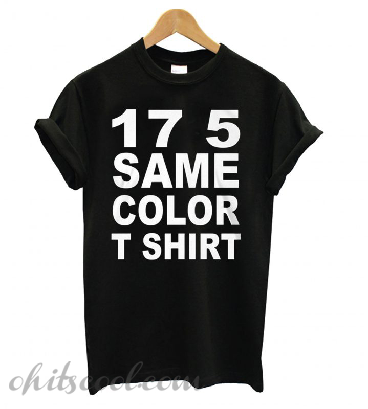 17 5 Same Color Black Runway Trend T shirt