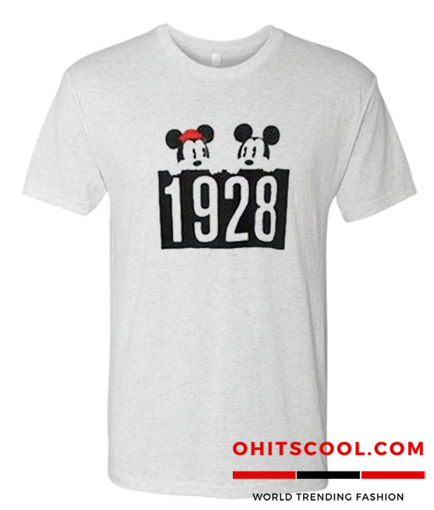 1928 Mickey and Minnie Mouse Runway Trend T-Shirt