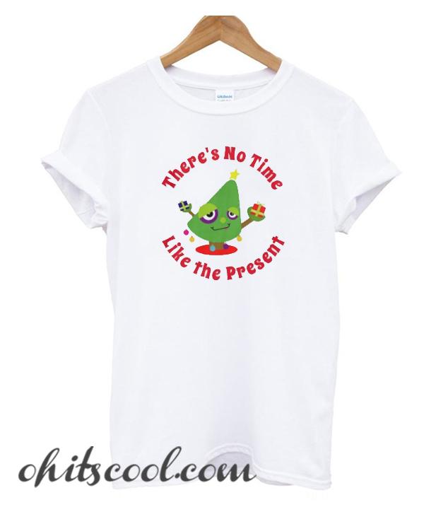 No Time Like the Present Festive Christmas Tree Runway Trend T-Shirt