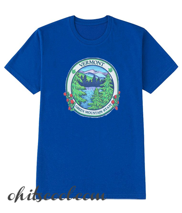 90s Vermont Green Mountain State Runway Trend t-shirt