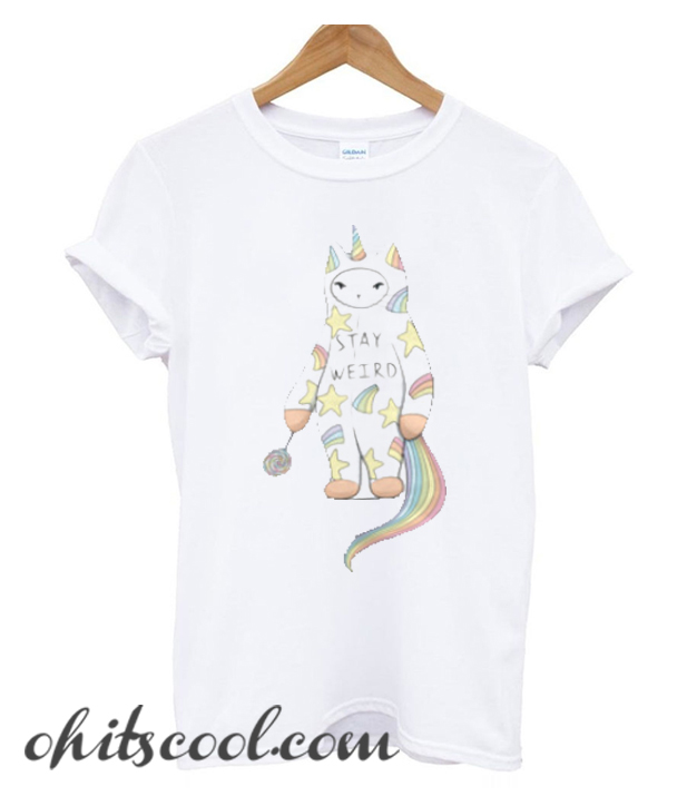 Stay Weird With Love From Unicorn Cat Runway Trend T-Shirt
