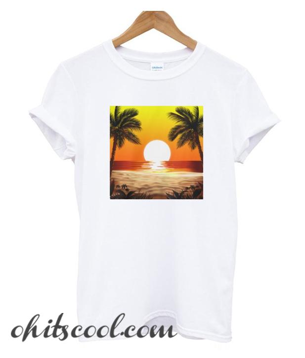 Sundown on Beach Runway Trend T-Shirt