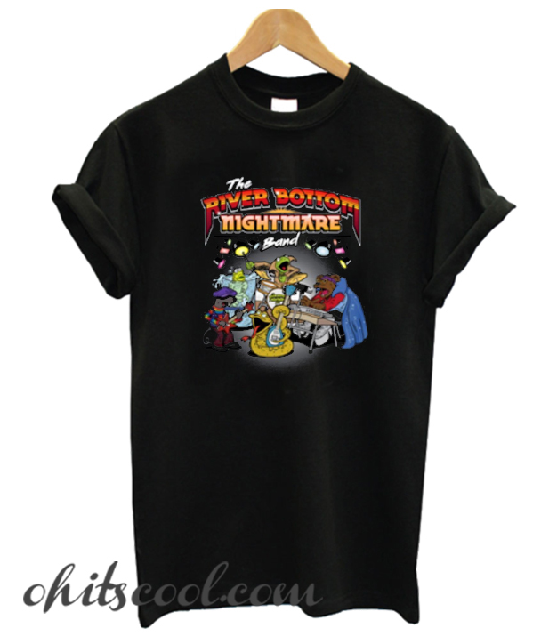 The Riverbottom Nightmare Band Emmet Otter's Jug Band Runway Trend T-Shirt Women Ladies Black