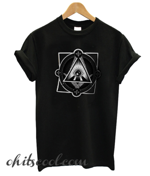 the sky illuminati Runway Trend T-SHIRT WOMEN BLACK