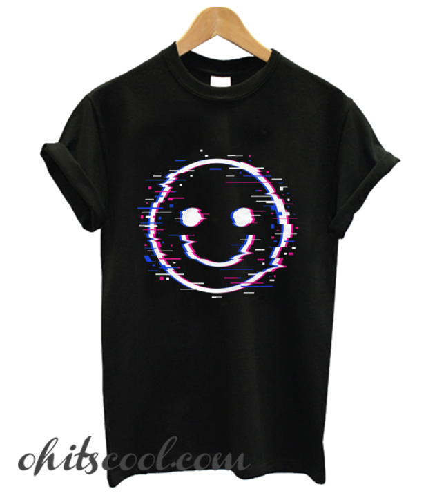 Glitch Face Runway Trend T Shirt