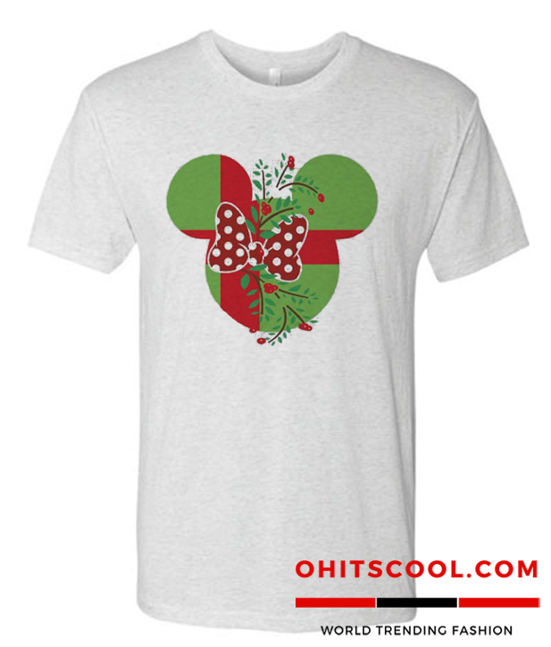 Minnie Mouse Christmas Bow Runway Trend T Shirt