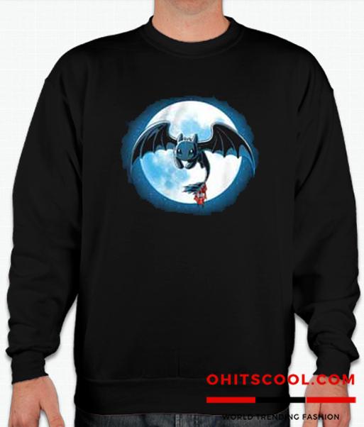 Toothlees night fury Runway Trend Sweatshirt