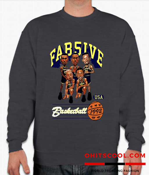 ab Five Michigan Retro Caricature Runway Trend Sweatshirt