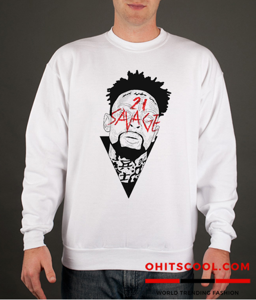 21 Savage Graphic Runway Trend Sweatshirt
