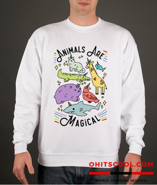 ANIMALS ARE MAGICAL Runway Trend Sweatshirt