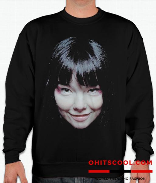 Bjork Face Runway Trend Sweatshirt
