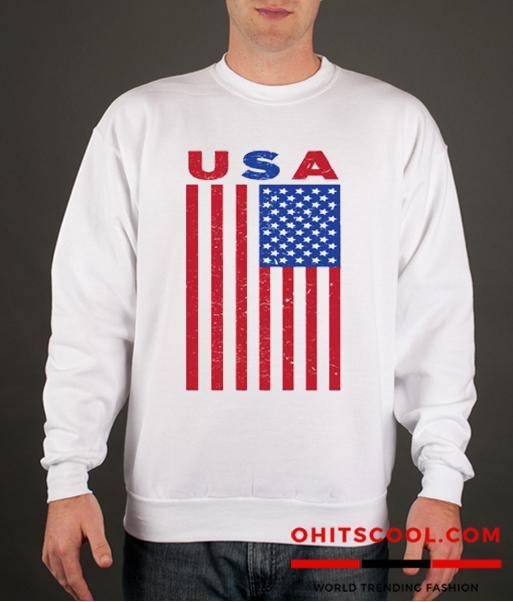 USA Flag Runway Trend Sweatshirt
