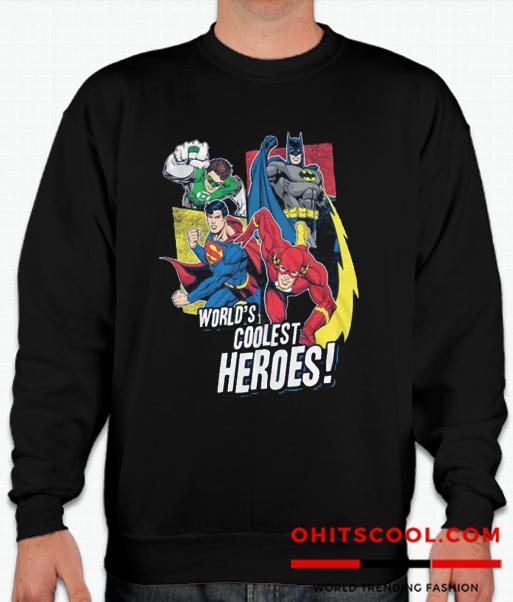 ustice League Coolest Heroes Runway Trend Sweatshirt