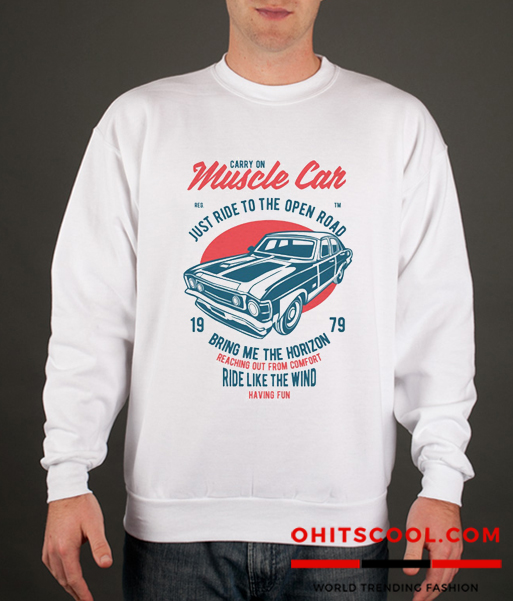 MUSCLE CAR ENTHUSIAST Runway Trend Sweatshirt