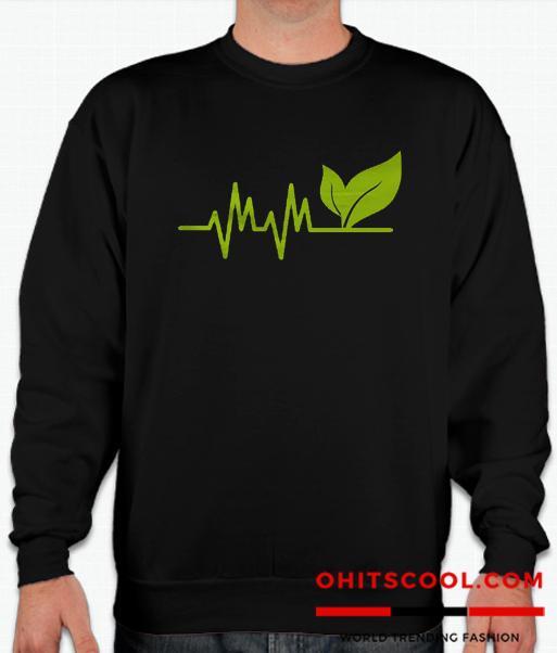 Vegan Heartbeat Runway Trend Sweatshirt