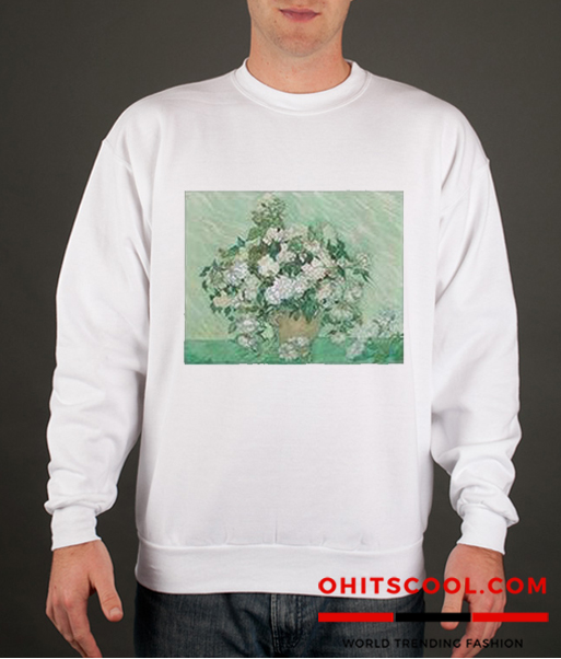 Vincent van Gogh Roses Runway Trend Sweatshirt