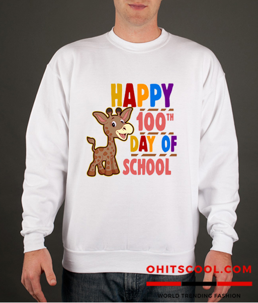 Happy 100th Day of School Runway Trend Sweatshirt